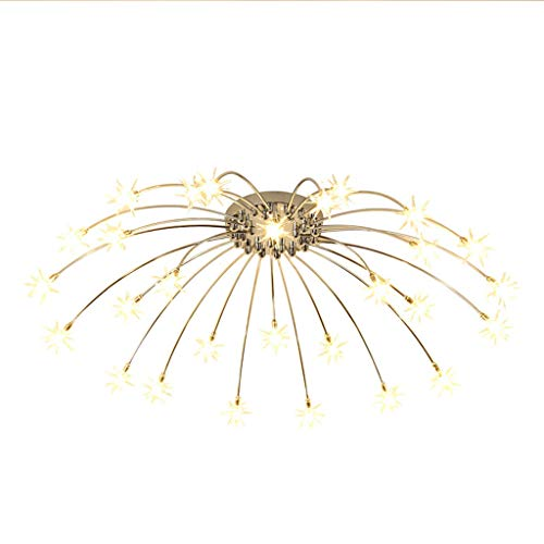 Pendant Glass Childrens Light (Ceiling Lamp Starry - Living Room Bedroom Warm Children's Room Led Light Ice Glass Lampshade Lighting(Without Light Source) (Color : Gold))