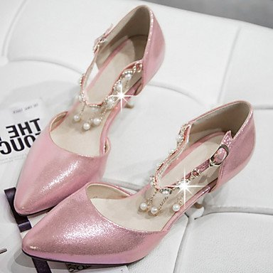 US9 Pointed Zormey Stiletto Evening UK7 amp;Amp; Dress Heels CN41 Toe Piece D'Orsay Pink amp;Amp; Party Two Shoes Heel Silver Gold Women'S EU40 qqEr8U
