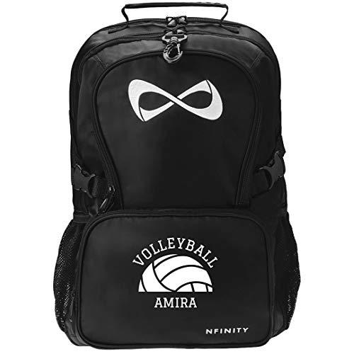 Cute Volleyball Girl Amira: Nfinity Black Backpack Bag