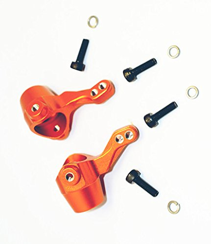 CrazyRacer HPI BULLET3.0 MT ST Ken Block WR8 Flux Upgrade Parts Aluminum Alloy Front Knuckle Arm-1PR Set for 101208 Orange