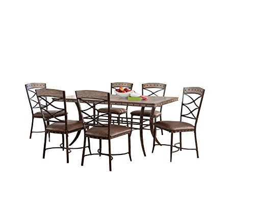 Hillsdale Emmons 7 Piece Rectangle Dining Set, Washed Gray (Hillsdale Dining Room Bed)