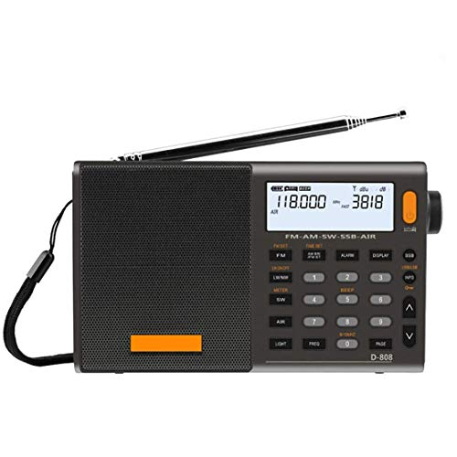 Radio, Portable Digital Radio Fm Stereo/sw/mw/lw SSB Air RDS Multi-Band Alarm Clock with LCD Display, Suitable for Living Room