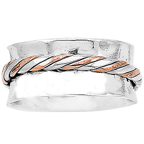 Desiregem Anti Anxiety and Worry Less Spinner Ring Spinning Size DGR1053 (8.5)