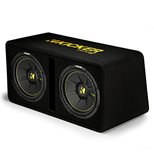 Kicker Dual 12-Inch 1200 Watt 2 Ohm Vented Loaded Subwoofer Enclosure, 44DCWC122 by Kicker (Image #2)