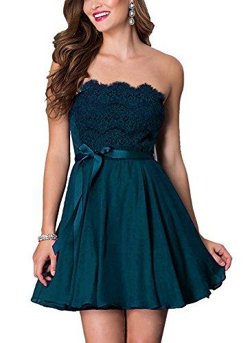 Now&Forever Ahora y para siempre banda de largo corto vestido de dama de honor de encaje corsé Azul azul oscuro Uk14: Amazon.es: Ropa y accesorios