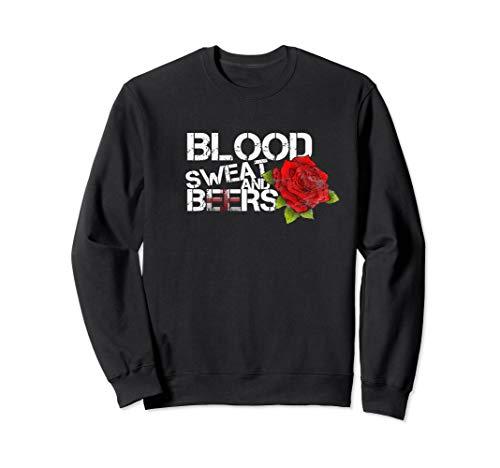 Blood Sweat Beers Sweatshirt England Flag Rugby Six Nations