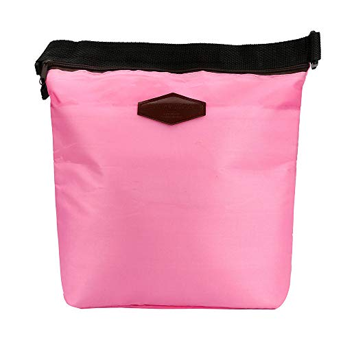 Yu2d  Waterproof Thermal Cooler Insulated Lunch Box Portable Tote Storage Picnic Bags(Pink)