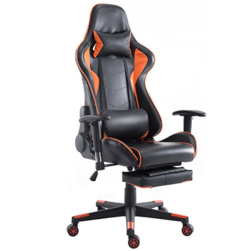 415BgN%2BCFpL - Giantex-Gaming-Chair-Racing-Chair-High-Back-Reclining-Lumbar-Support-Headrest-and-Footrest-Office-Swivel-Computer-Task-Desk-Gaming-Chair-Orange