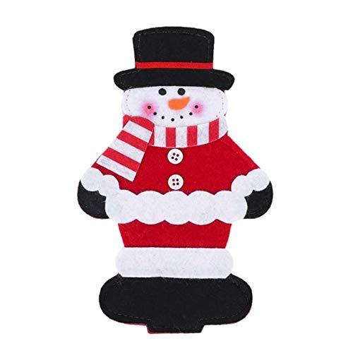 (Christmas Hats - Christma Dinner Table Hat Decoration Tableware Silverware Holder Pocket Knife Fork Bag Santa Snowman Elk - Yuletide Day Noel Christmastime Christmastide Yule - 1PCs)