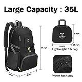 Olarhike Lightweight Travel Backpack, 35L Water Resistant Packable Traveling/Hiking Backpack Daypack for Men & Women, Multipurpose Use