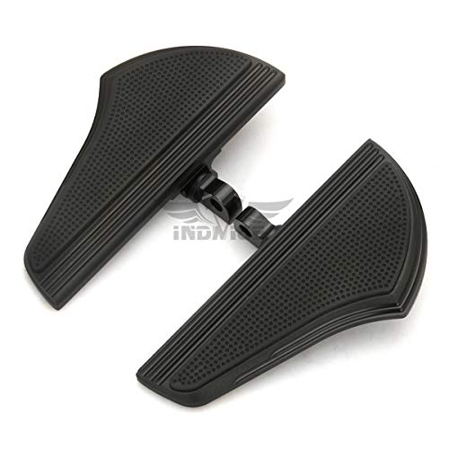 Motorcycle passenger Defiance floorboards Black CNC Male Mount Foot Pegs for Harley Touring FLHX PEG Dyna Sportster XL9 ()