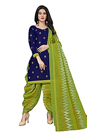 HANOBA Women Synthetic Un-Stitched Dress Material