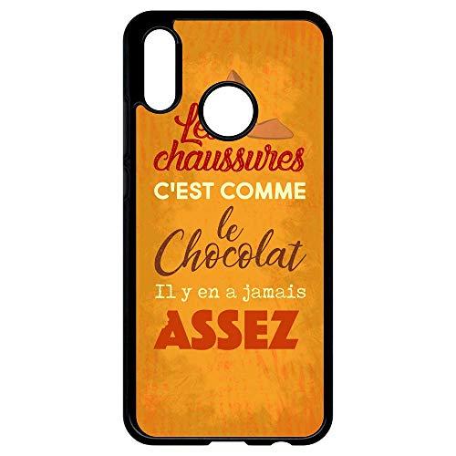 Compatible Comme Le Coque Transparent P20 Est Jamais Bord A Chocolat Huawei Les Assez Il Chaussures Y En C Lite Noir Générique nqBwx6XYY