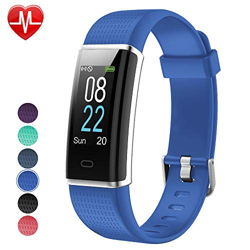 Rate Monitor Pro Heart Watch (YAMAY Fitness Tracker with Heart Rate Monitor, Fitness Watch Activity Tracker Smart Watch with Sleep Monitor 14 Sports Mode,Pedometer Watch for Kids Men Women (Color Screen,IP68 Waterproof) (Blue))