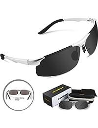 Torege Men's Sports Style Polarized Sunglasses Driver...