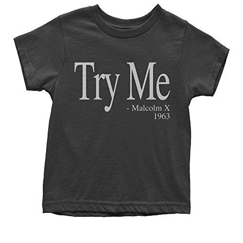 Expression Tees Youth Try Me Malcolm X T-Shirt Medium Black