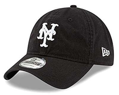 "New York Mets New Era MLB 9Twenty ""Core Classic Twill"" Adjustable Black Hat from New Era"