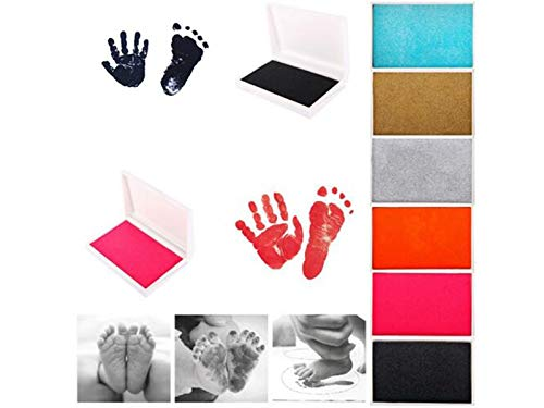 Baby-Fu/ßabdruck Inkless Touch Footprint-Handabdruck-Stempelkissen Hand Arulinmz Wohnaccessoires Ornamente Stempelkissen und Fu/ßdruck-Stempelkissen liefert schwarz