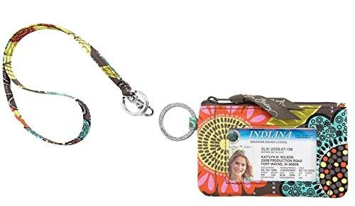 Vera Bradley Zip ID Case and Lanyard - Flower Shower - NWT