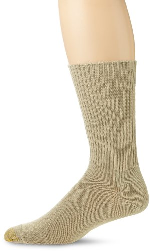 - Gold Toe Men's Fluffies Casual Sock, Khaki, 10-13 (Shoe Size 6-12.5)