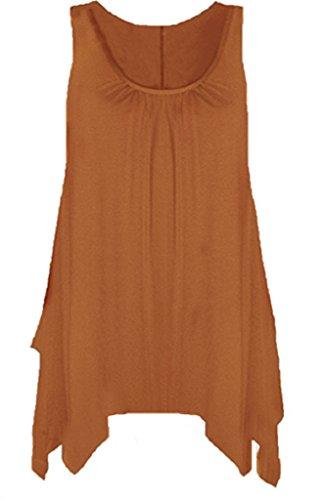 empire Orange Taille Boutique Femme Rouille Chemisier PvFqxRfH