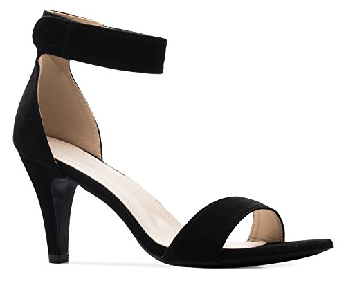 3 inch black heels - 9