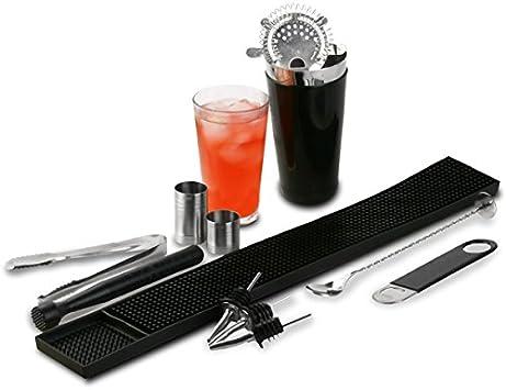 Compra Drinkstuff Bar - Juego de utensilios de coctelería (vinilo ...