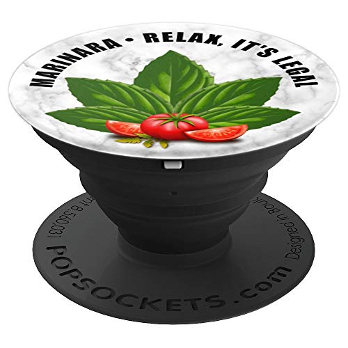Marinara Relax It's Legal Basil and Tomatoes - PopSockets Grip and Stand for Phones and Tablets