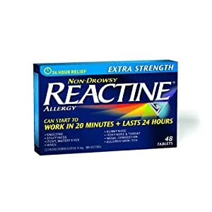 Reactine Non Drowsy Extra Strength Allergy Medicine 48 Tablets (10 mg) NEW