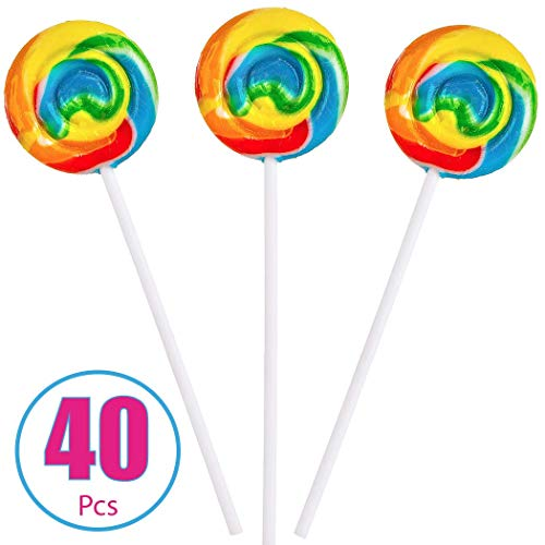 Rainbow Swirl Pops - 40 Suckers