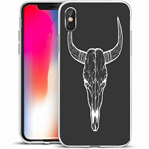 Blackwork Design - Ahawoso Slim Protective Phone Case for iPhone X/XS 5.8