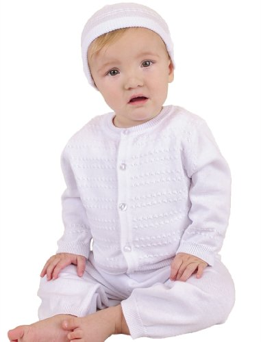 Aiden 9 Month Knit Christening Baptism Blessing Outfit for Boys