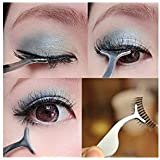 LAUREN STORE, False Eyelash Extension Stainless Auxiliary Clip Tweezers Nipper Beauty Tool Newest