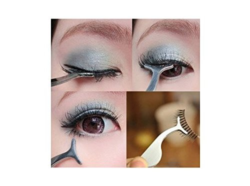 False Eyelash Extension Stainless Auxiliary Clip Tweezers Nipper Beauty Tool