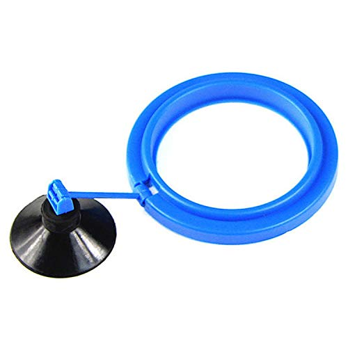 JIA-WALK Aquarium Feeding Ring Fish Tank Station Floating Food Tray Feeder Square Circle Accessory Water Plant Buoyancy Suction Cup,Style 1