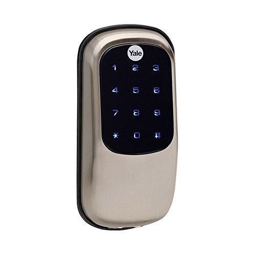 Yale Real Living Key Free Touchscreen Deadbolt Satin Nickel YRD240NR619