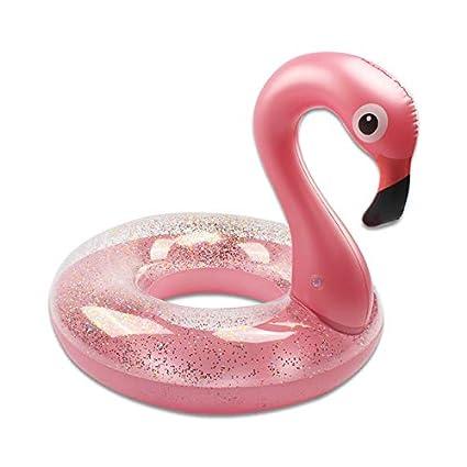 Amazon.com: YaMeiDa Flotador de flamenco de oro rosa por ...