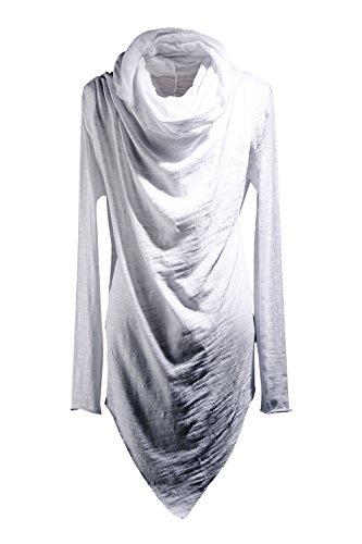 ByTheR Men's Social Best Large Cowl-Neck Unique Niche T-Shirts One Size White ()