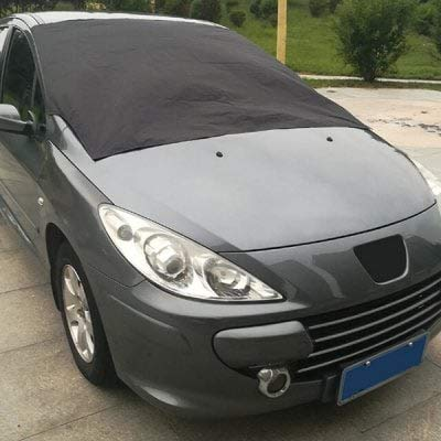 HaiMa Coche Delantero Parabrisas Nieve Cubierta Parasol Protector Impermeable-Negro