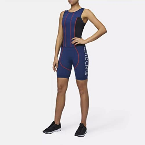 Sundried Womens Premium Padded Triathlon Tri Suit Compression Duathlon Running Swimming Cycling Skin Suit