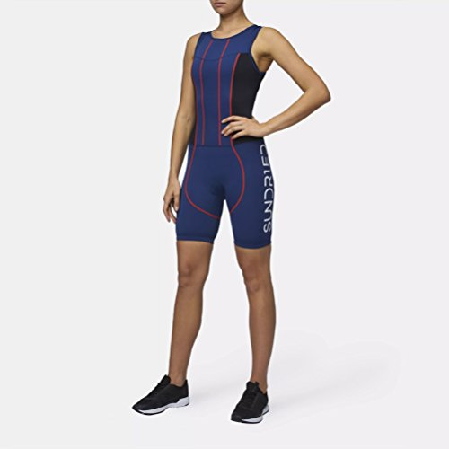 Sundried Womens Premium Padded Triathlon Tri Suit Compression Duathlon Running Swimming Cycling Skin Suit (XX-Large) by Sundried (Image #2)