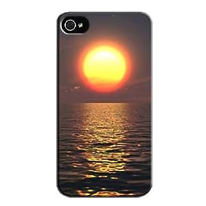 Black TPU For Iphone 4 The Digital Ocean Skid-proof The Digital Ocean Case Cover