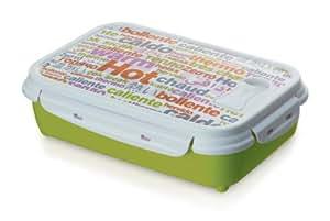 Rotho Clic & Lock - Fiambrera térmica (1,25 L), color verde