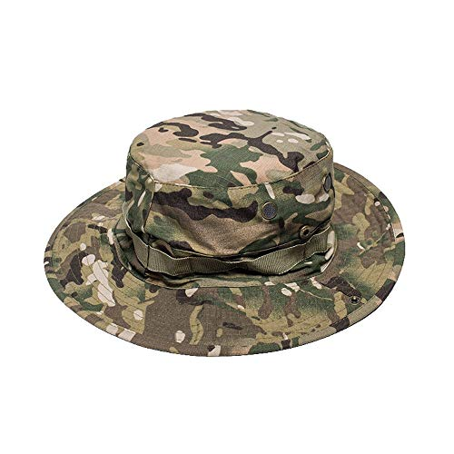BMM - HATS Benni Cap Suitable for Men/Shade/Field/UV/Breathable/Beach Fisherman Camouflage Round Hat 58 cm (Color : ()