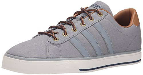 Adidas Menns Daglige Grå / Grå / Tømmer Sneaker 8 D - Medium