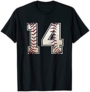 14th Birthday Baseball Sports 14 Years Old  Boy Girls T-shirt | Size S - 5XL