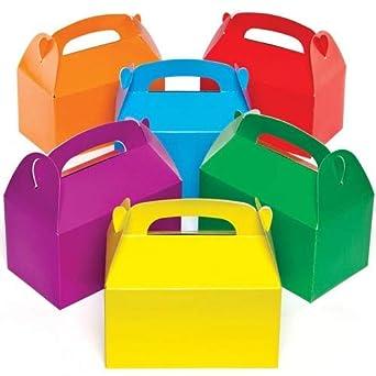 Cajas de regalo de colores que los niños pueden adornar, decorar y llenar de obsequios (pack de 6).: Amazon.es: Industria, empresas y ciencia