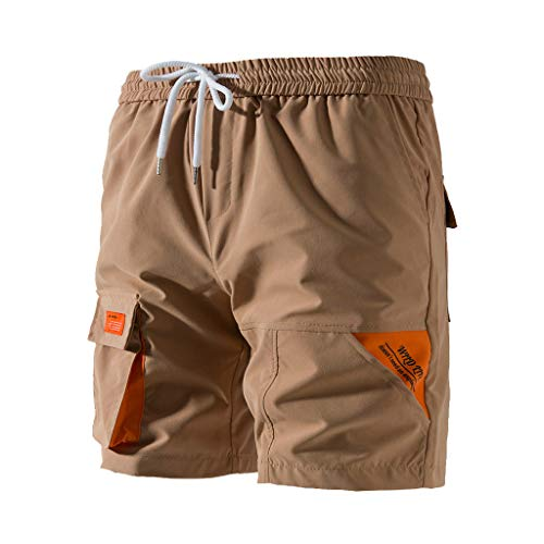 Price comparison product image Men's Cargo Shorts Relaxed Fit Multi-Pocket Outdoor Short Pants Elastic Drawstring Outdoor Relaxed Fit Shorts by Lowprofile