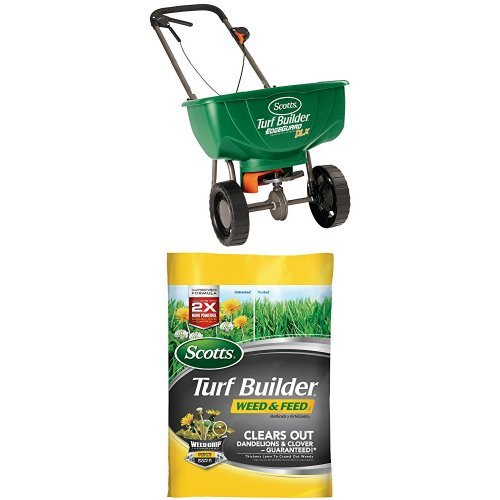 Scotts Weed & Feed + Deluxe Broadcast Spreader