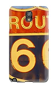 New Arrival Case Cover With WODObSo23348qiiMB Design For Galaxy Note 3- Springfield Route 66 Sign Nature Other